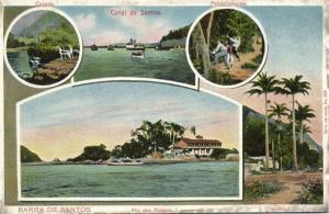 brazil, SANTOS, Multiview, Canal, Ilha das Palmas, Passarinhando (1910s)