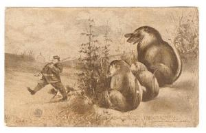 Political Comic; President TAFT guards Whitehouse from The only Possums that Es