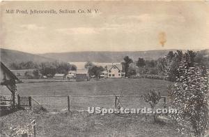 Mill Pond Jeffersonville NY 1916