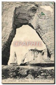 Old Postcard Etretat The Manneporte I & # 39Aiguille And Gate D & # 39Aval
