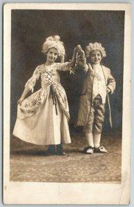 RPPC Little Children Dressed Up As President George & Martha Washington c1910
