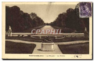 Old Postcard Fontainebleau Palace Canal