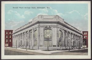 Second Ward Savings Bank,Milwaukee,WI Postcard