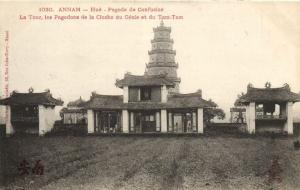 CPA Vietnam Indochine - ANNAM Hué - Pagode de Confucius (60466)