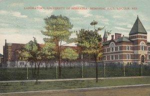 LINCOLN, Nebraska, 1910 ; Lab , U. of Nebraska