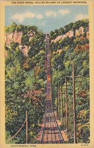 Steep Grade Incline Railway Up Lookout Mountain Chattanooga Tennessee Curteich