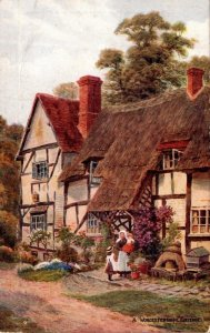 England Worcestershire A Typical Cottage
