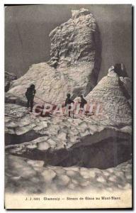 Old Postcard Seracs Chamonix Ice Climbing Mont Blanc