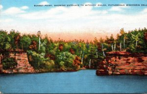 Wisconsin Dells Sunset Point Showing Entrance To Witches Gulch