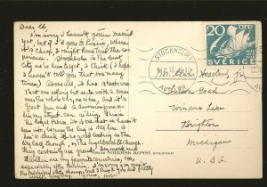 Sweden Stockholm Kungl Slottet Postmarked 1936 AKTA Fotogrfi Real Photo Postcard