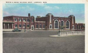 LAWRENCE , Massachusetts , 1910s-20s; Boston & Maine Railroad Depot