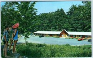 LAKE GEORGE, New York NY   Roadside LAKE SYMPHONY MOTEL ca 1950s  Postcard