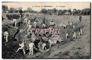 Old Postcard Ardoisieres Colony of Mettray The career TOP