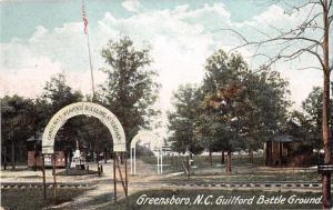 Greensboro North Carolina Guilford Battle Ground Antique Postcard J51933