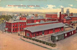 Springfield MA  Knox Automobile Works Factory Postcard
