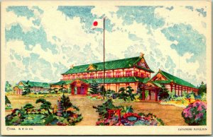 1933 CHICAGO WORLD'S FAIR Expo Postcard JAPANESE PAVILION Donnelly Unused
