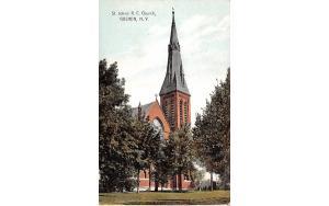 St John's RC Church Goshen, New York Postcard