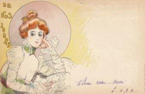 Jacques dit Jack ABEILLÉ : Art Nouveau Female Head Portrait , 1898 , #3/6