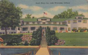 Front view,  South Shore Inn,  Lake Wawasee,  Indiana,   PU_1953