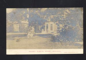 RPPC ASHLAND KENTUCKY HENRY CLAY'S HOME VINTAGE KY. REAL PHOTO POSTCARD