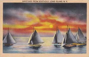 New York Greetings From Southold Long Island 1950
