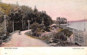 Canada N.S. Halifax, Bedford Road, cart, carriage Souvenir