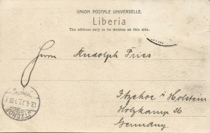 liberia, MONROVIA, Native Hut along the St. Pauls River (1902)