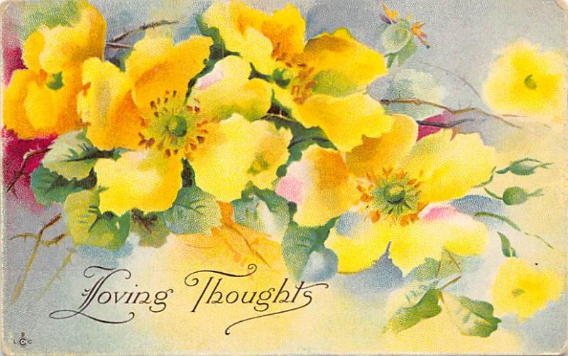 Loving Thoughts Postcard Series 249 E unused