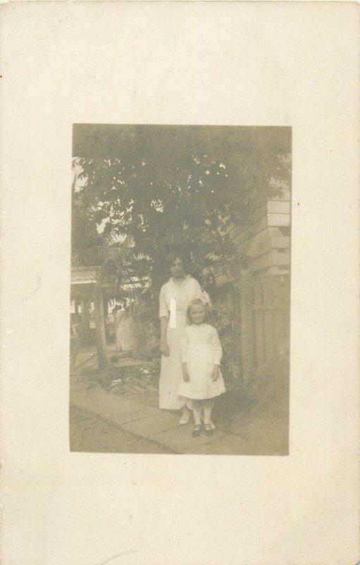 Social history early photo postcard family girl woman