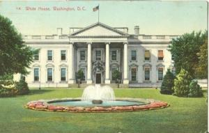 Washington DC White House 1910 used Postcard