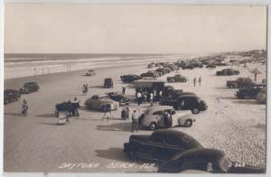 RPPC, Beach Scene, Daytona Beach FL