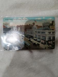 Antique Postcard, Winter Garden and Broadway, New York City