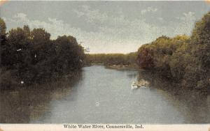 Connersville Indiana~White Water River Scene~Branches in Water~c1910 Postcard