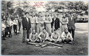 Honeoye Falls, New York Postcard A.C.C. Base Ball Team Baseball c1910s Unused