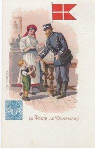 La Poste en DANEMARK , 1902