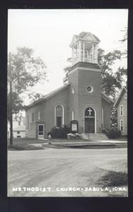RPPC SABULA IOWA METHODIST CHURCH VINTAGE REAL PHOTO POSTCARD