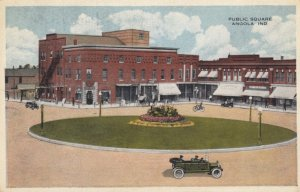 ANGOLA, Indiana, 1910s; Public Square