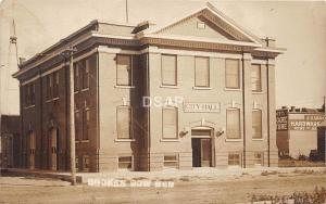 C93/ Broken Bow Nebraska Ne Real Photo RPPC Postcard c1910 City Hall Hardware