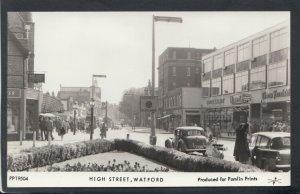 Hertfordshire Postcard - High Street, Watford - Pamlin Prints DR859