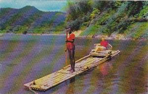 Rafting on Rio Grande near Port Antonio, Jamaica, British West Indies, 40-60s
