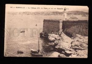 017530 LIGHTHOUSE in Marseilles FRANCE Vintage PC