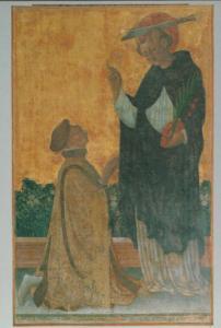 Bonifacio Bembo Saint Peter Veneration Pigello Portinari Italy Painting Postcard