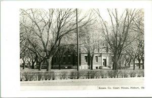 Vtg Cartolina RPPC Kiowa Contea Palazzo Della - Hobart Oklahoma - Non Usato