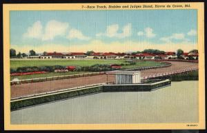 (2) Maryland ~ Race Track, Stables and Judges Stand Track  HAVRE de GRACE LINEN