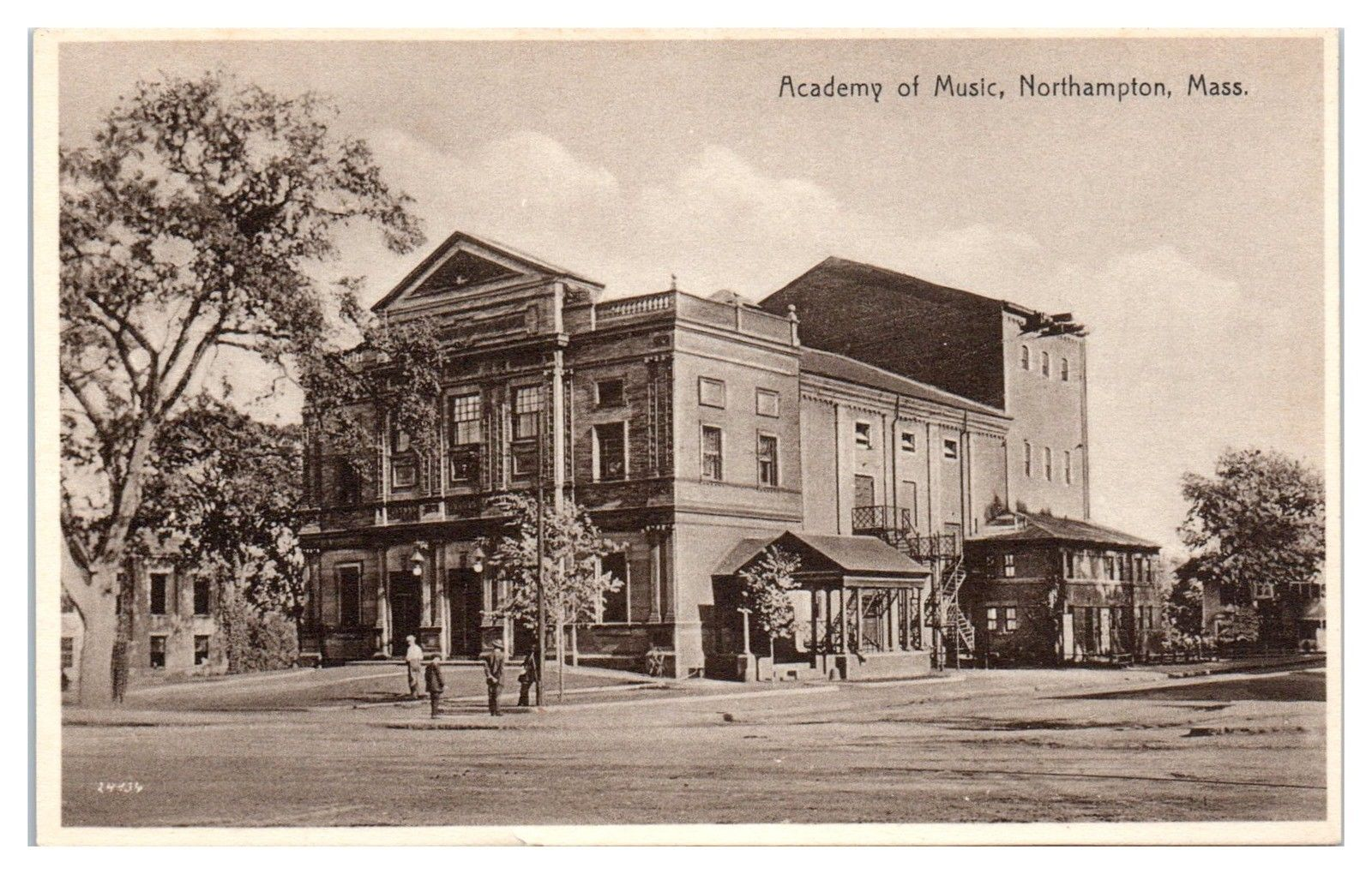 Early 1900s Academy of Music, Northampton, MA Postcard / HipPostcard