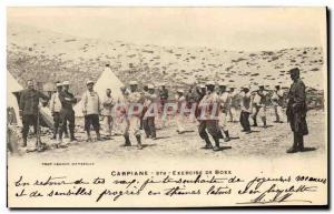 Old Postcard Boxing Carpiane Exercise