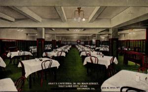 Utah Salt Lake City Shay's Cafeteria South Main Street 1915