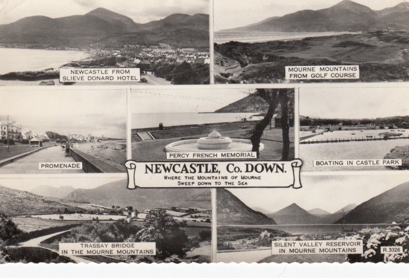 RP: NEW CASTLE , Northern Ireland , Co. Down , 30-40s ; 7 view Postcard