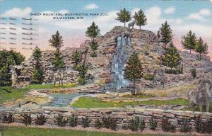 Wisconsin Milwaukee Sheep Mountain Washington Park Zoo 1950