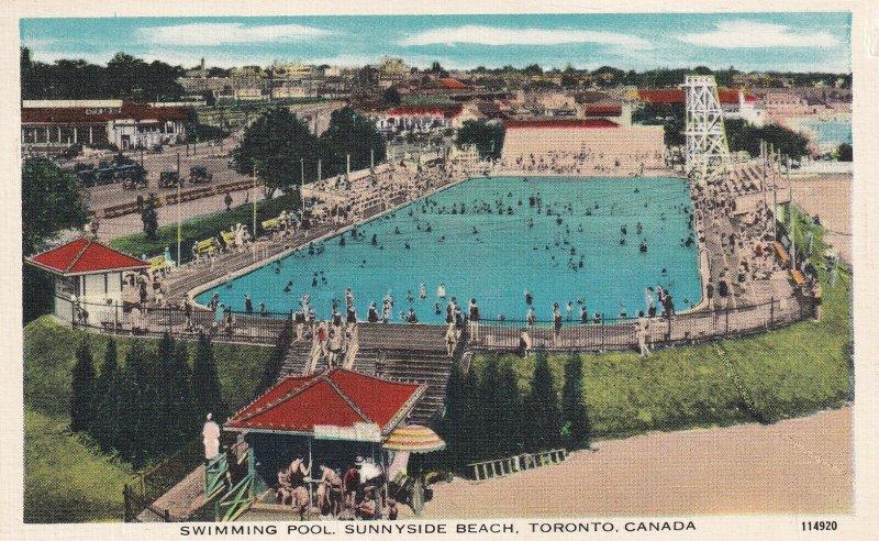 TORONTO, Ontario, Canada, 1930-1940s; Swimming Pool, Sunnyside Beach